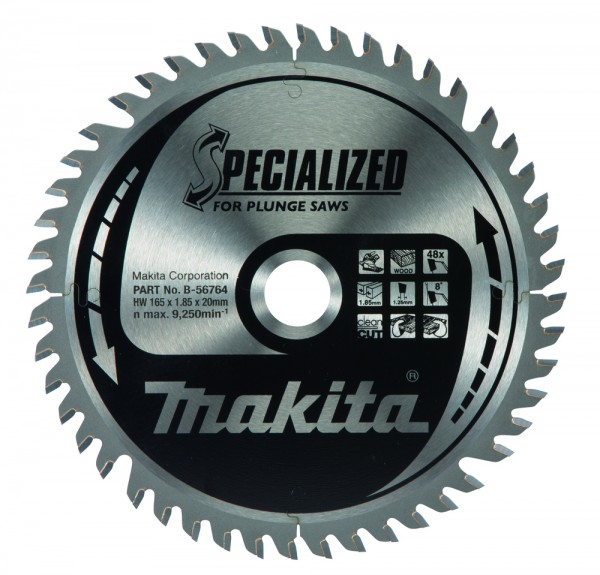 Makita Sägeblatt Specialized Ø165x20 mm 48 Z