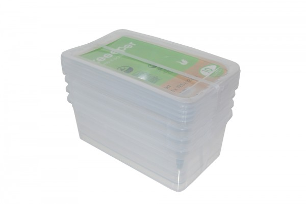 Clearbox Bea transparent 4x5,6l 33x19,5x12cm, ehemals Basixx Sets
