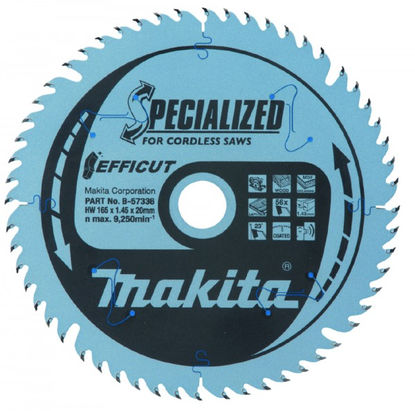 Makita Sägeblatt Specialized Ø165x20 mm 56 Z